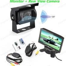7 Дюймов TFT LCD ЦВЕТНОЙ Экран Монитор Стоянка для Автомобилей Вид Сзади + 18 LED Камеры