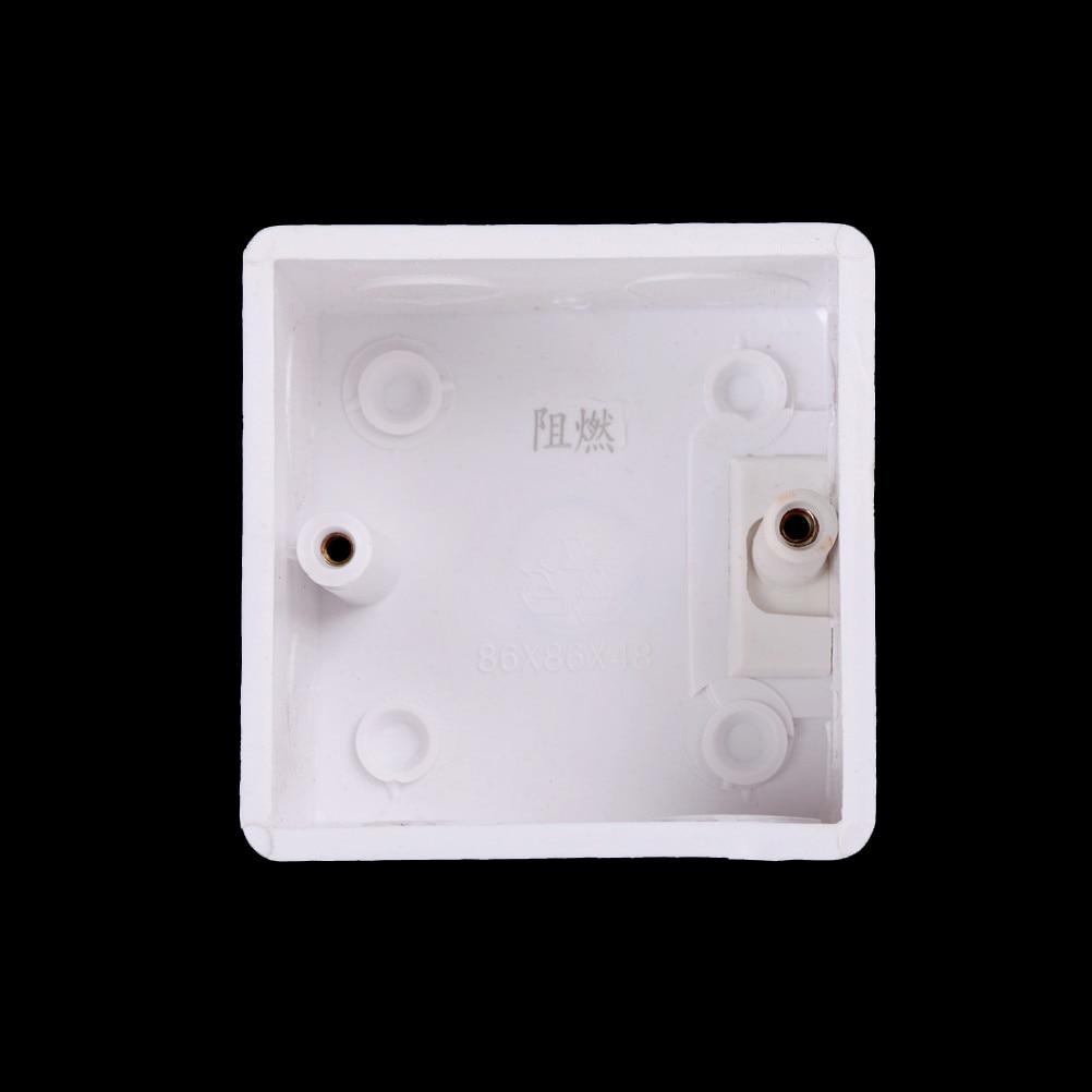 White Plastix Switch Mounting Box Internal Mount Box For
