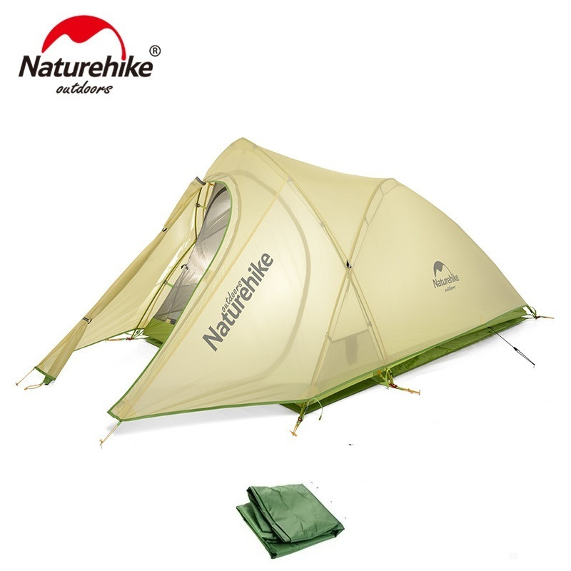 Naturehike Новинка 2017 года 2 человек 3 сезон Палатка Сверхлегкий большое пространство лагерь Tente Cirrus человек