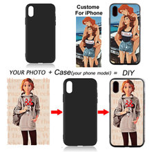 2019 Fashion gift DIY Photo Phone case Custom picture Cover For Apple iPhone X XR XS MAX 7 8 6 6S Plus 5 5S SE Coque for iPhone(China)