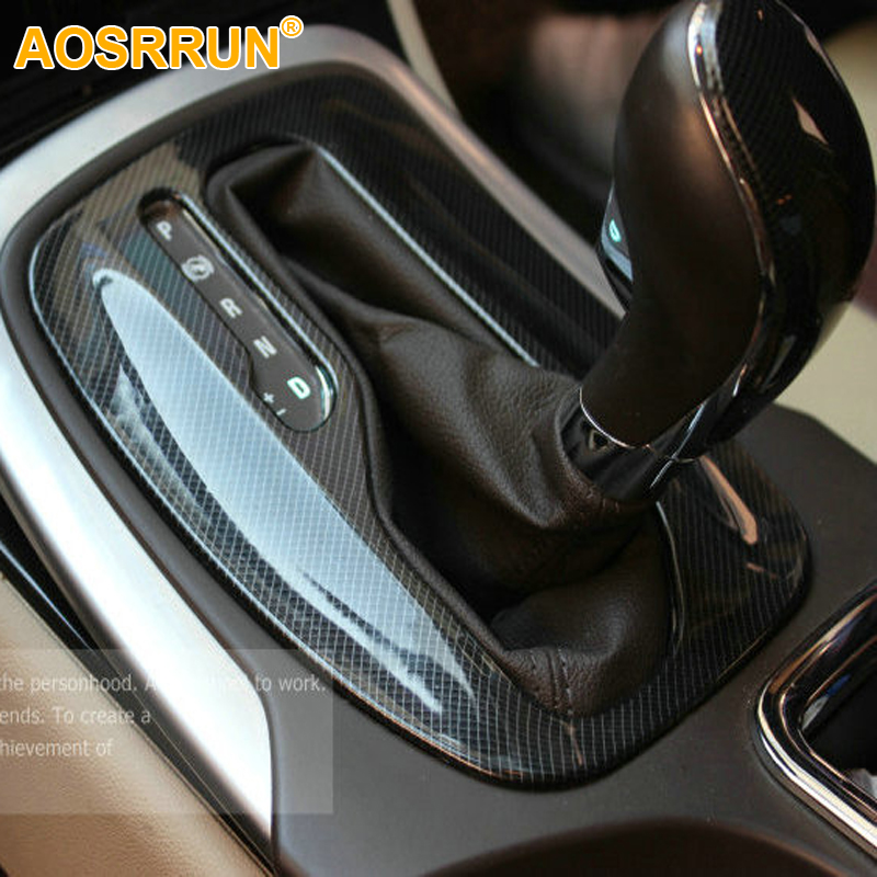 Automatic Gear carbon fiber stickers ABS Car Accessories For opel Insignia sedan Sport Tourer 2009 2010 2011 2012 2013 2014 2015 executive car