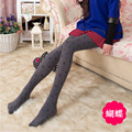 2015 New Fashion Women Tights 3 Styles Velvet Jacquard Stockings Casual Gray Sexy Pantyhose Wholesale