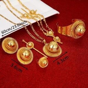 Image 2 - Ethiopian Jewelry Set Hair Piece Hair Pin Women Fashion Eritrea Habesha African Jewelry Set