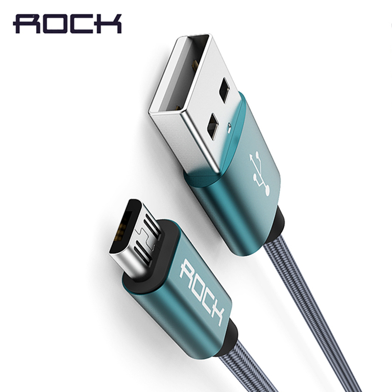ROCK Metal Nylon Braid Micro USB Cable