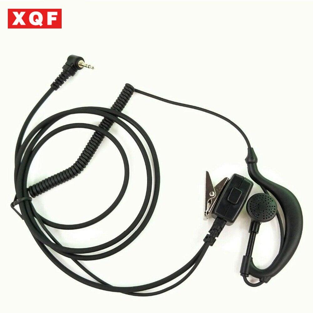 XQF Big PTT 2.5mm Jack Headphone Hesdset Earhok For MOTOROLA T5428,T5620,T5,T6,T7,T8,HYT TC310,TC320,TYT Etc Walkie Talkie