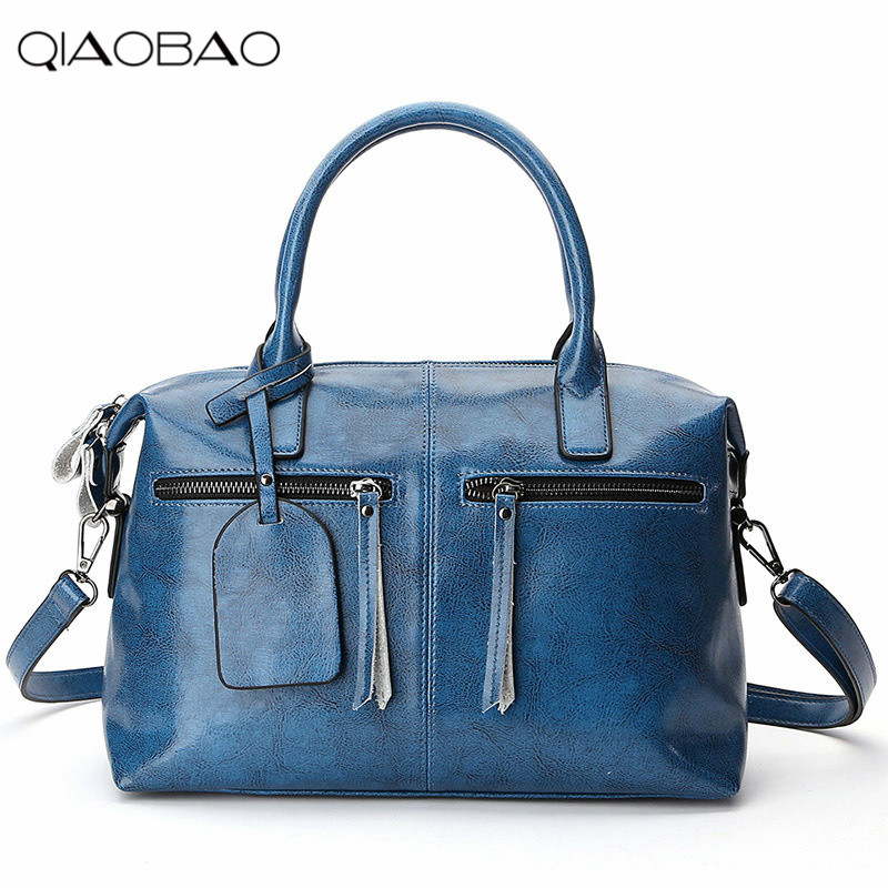 QIAOBAO 2018 Genuine leather bag cowhide women messenger bags women brands designer fashion handbags chispaulo 2017 designer brand cowhide women genuine leather handbag fashion cacual women s shouldercrossbody messenger bags x12