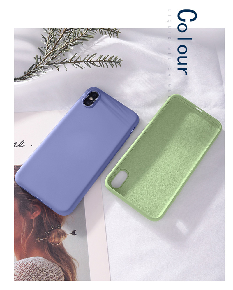 Luxury Skin-friendly Liquid Silicone Phone Back Cover Case For Huawei Honor Mobiles 16