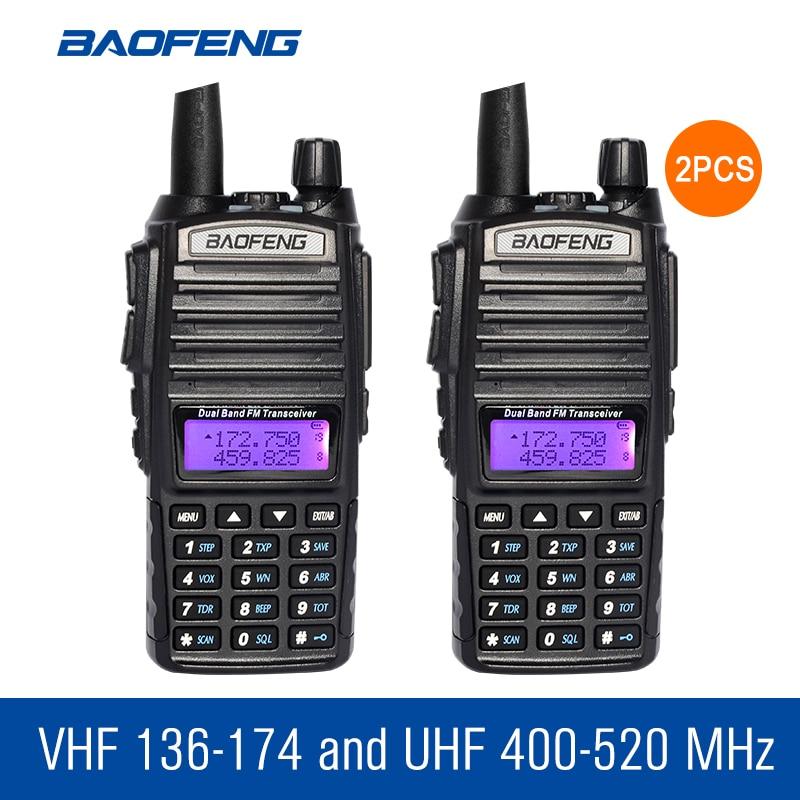 imágenes para 2 unids/lote BaoFeng UV-82 Walkie Talkie de Banda Dual de Dos Vías de Radio BF CB Radio Comunicador Jamón Transceptor de Radio Portátil