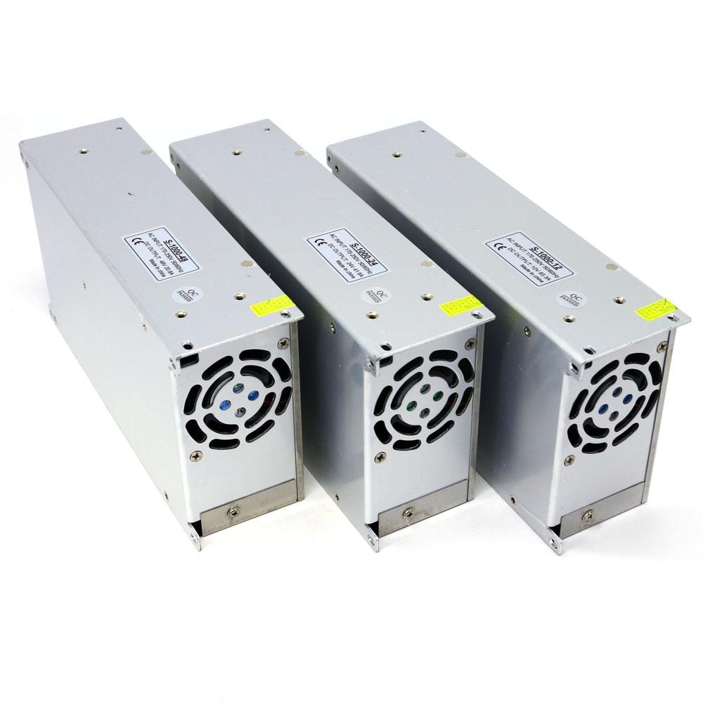 Led Switching Power Supply Ac to Dc 12V 24V 48V for Lighting Driver 1000W DC Constant Voltage Adjustable Power Supply 12V
