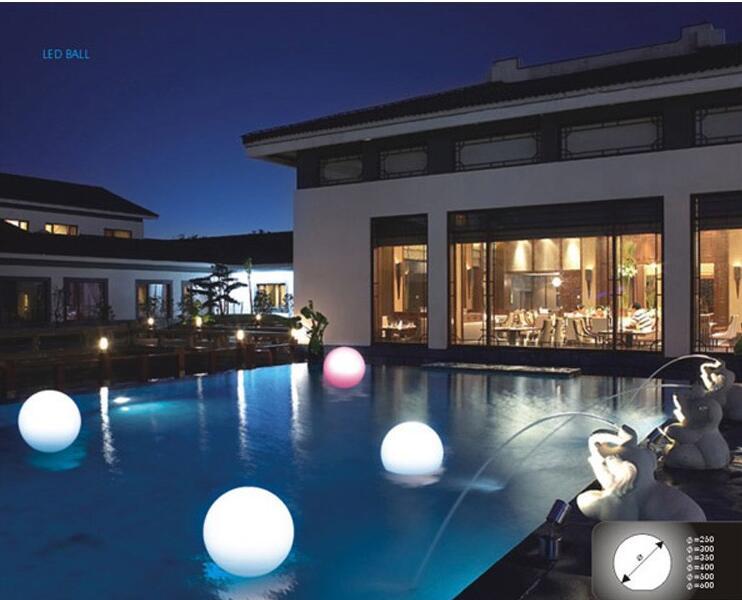 30cm ip68 led floating ball led magic ball led illuminated for Garden pool lights