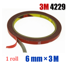 3M High Strength Double Sided Auto Car Truck Foam Attachment Tape 6mm