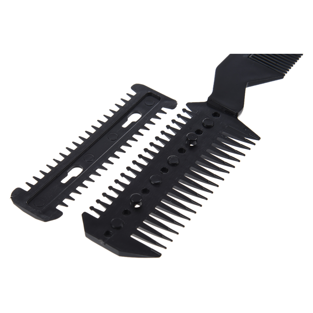 Best Sale New Practical Superior Black Handle Hair Razor Cutting Fine Comb for Lady