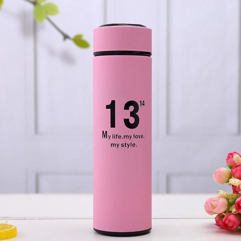 500ml Thermos Bottle Creative High Quality Lady Bottle Stainless Steel Tumbler Vacuum Cup Insulation Water Bottle in Vacuum Flasks Thermoses from Home Garden