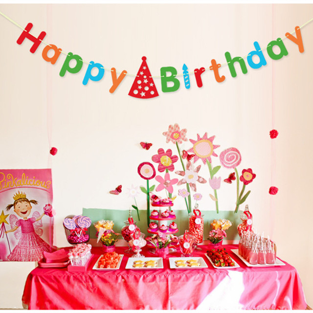 1pc Classical Letters Happy Birthday Paper Garlands 3m Decor Child