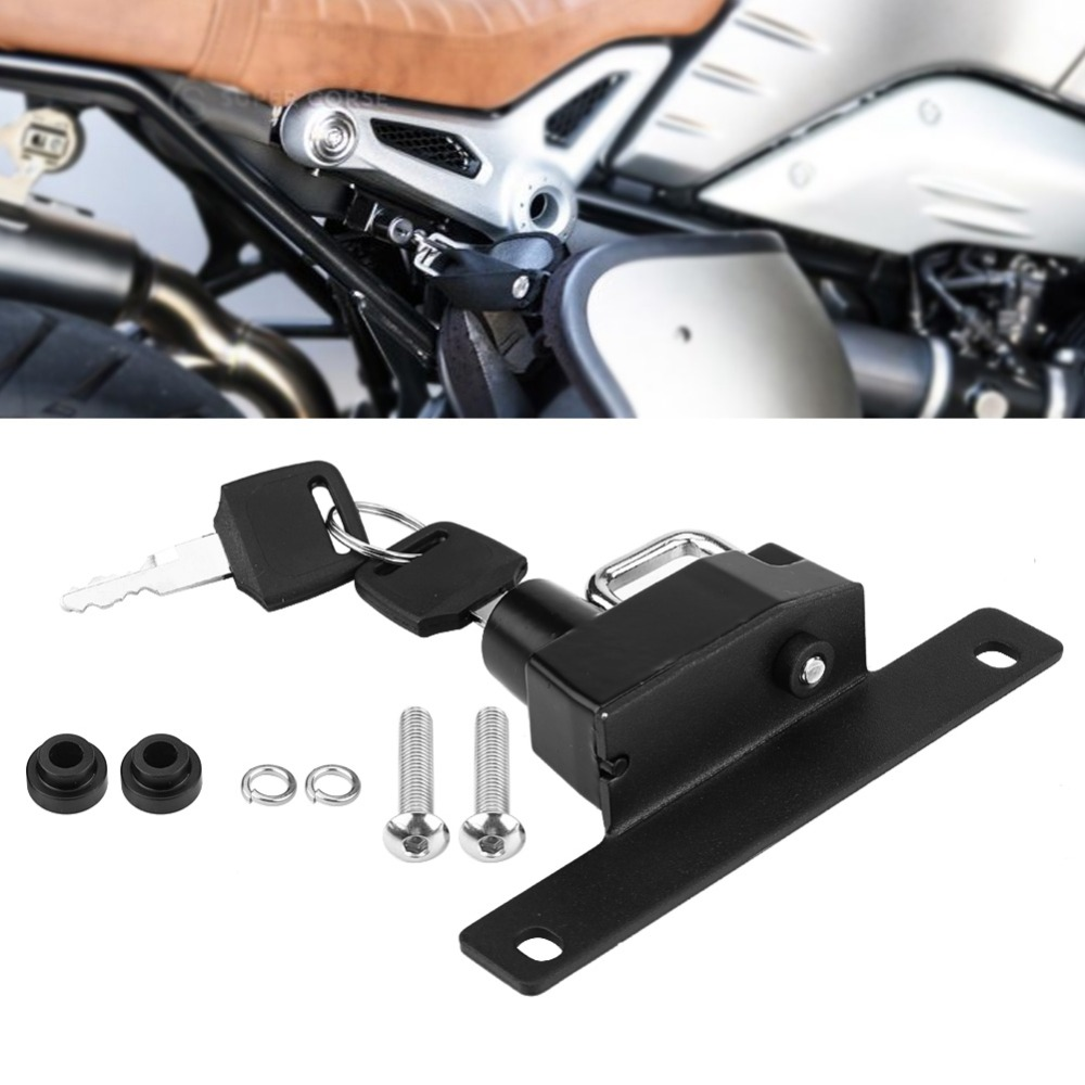 Motorcycle Helmet Lock Anti-Theft Combination PIN Locking Secures Right Side Mount For BMW R nineT R nineT Scrambler//Pure 2017 and later