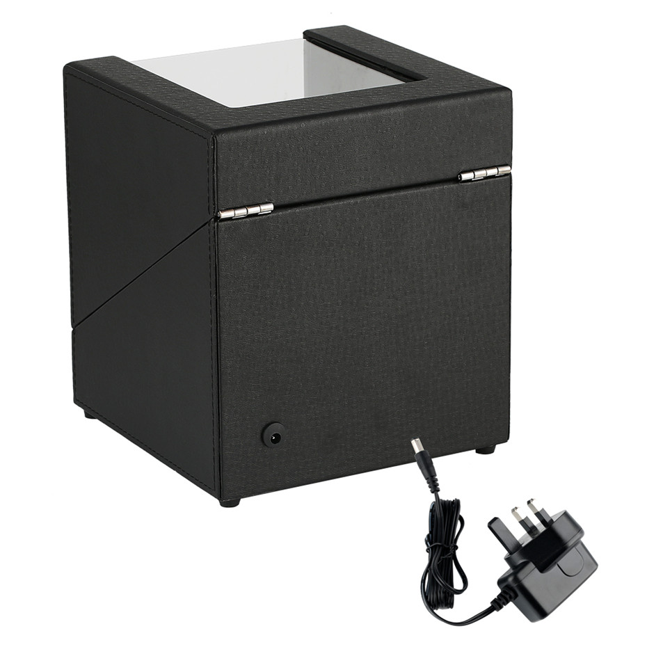 18 18 20 5 cm Size US UK AU EU Plug Winding Box for Automatic Mechanical Watches Luxury Black Motor Box 2 Holder Case Winder Box in Watch Winders from Watches