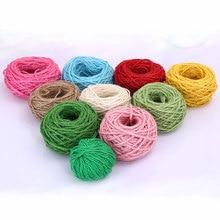 Wool yarn 1Pcs New Year DIY Party handmade color hemp rope decorative braided hemp rope color tag rope photo wall handmade QW036