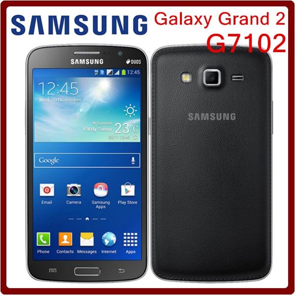 G7102 Original Unlocked Samsung G7102 Grand 2 GPS 8GB ROM 8MP Quad Core Dual SIM Cards