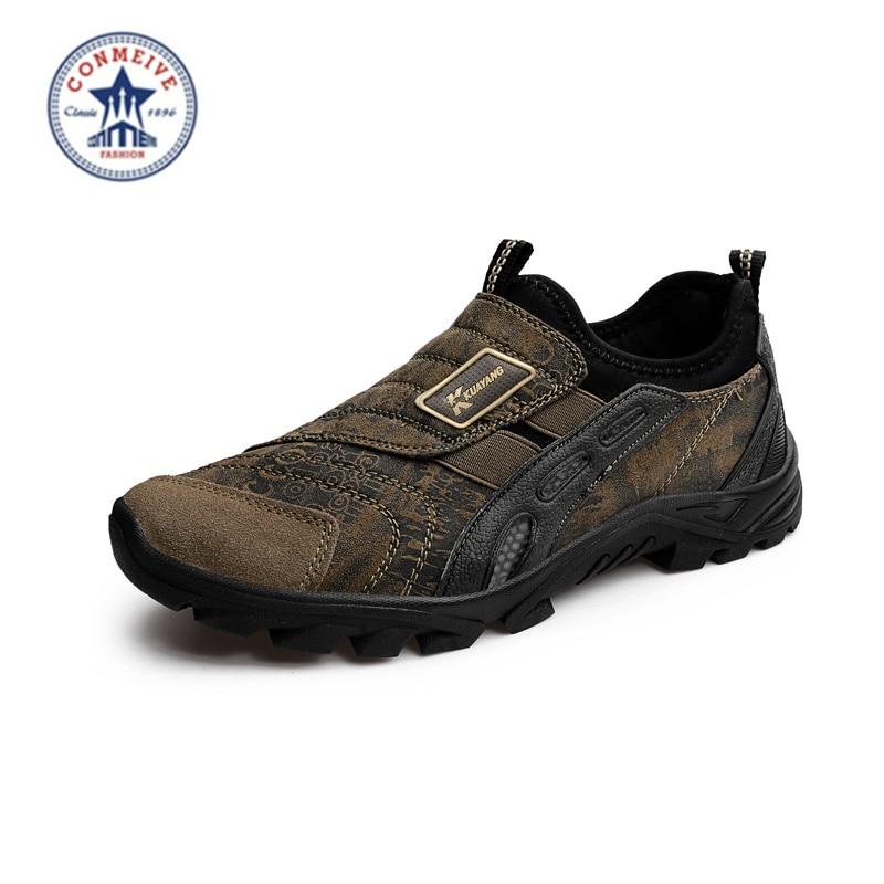 2018 Real New Medium (b, m) Eva The Newest Men Senderismo zapatos deporte al aire libre antideslizante atlético Zapatos Hombre Envío gratis