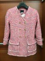 2016 г. женские камелии серии куртка, большие размеры твид элегантные пальто, casaco, дамы Chaquetas Mujer уникальный jaqueta feminina, 5XL