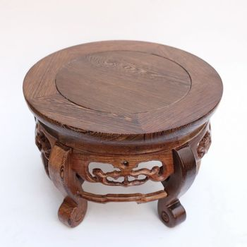 Red wood real wood household act the role is tasted handicraft furnishing articles vase aquarium circular base base on the green sandalwood carvings handicraft furnishing articles kettle pot of buddha aquarium household act the role ofing