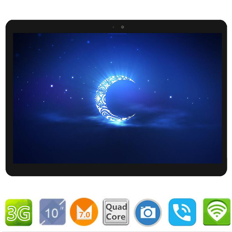 10.1 inch official Original 3G Phone Call Google Android 7.0 Quad Core IPS pc Tablet WiFi ROM 16GB 32GB  android tablet pc C108
