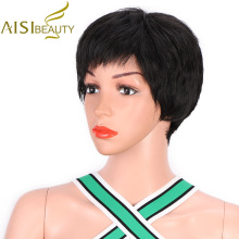 AISI BEAUTY, короткие черные парики для женщин, натуральный синтетический красный парик, парик для косплея, вечерние парики для волос, коричневый, термостойкий