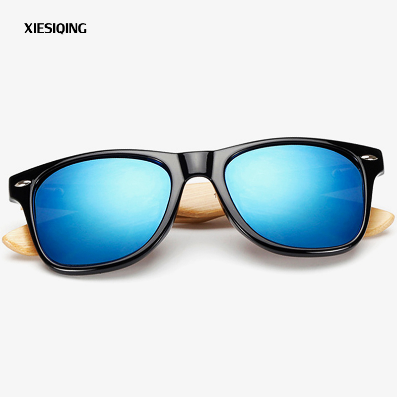 2019 New XIESIQING Wood Sunglasses Men Bamboo Sunglass Women Brand Design Sport Goggles Gold Mirror Sun Glasses in Women 39 s Sunglasses from Apparel Accessories