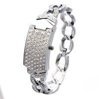35 Pcs G D Women Silver Triple Chain Stainless Steel Band Women S Clamshell Rhinestone Quartz