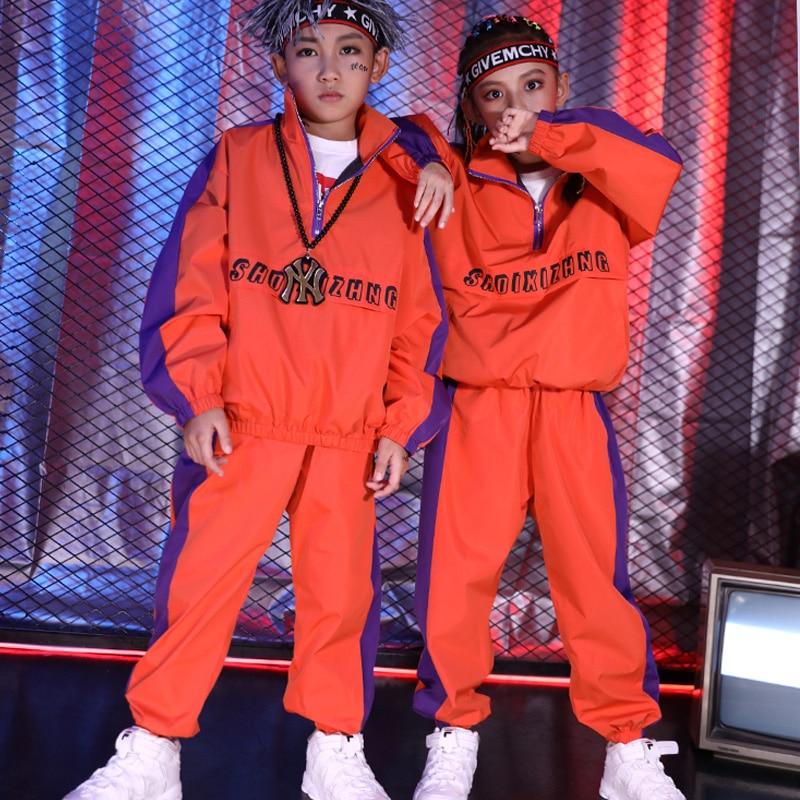 3 couleurs enfants Jazz Hip Hop danse Costume filles garçons moderne rue danse vêtements pour enfants scène Performance Costumes DWY1450