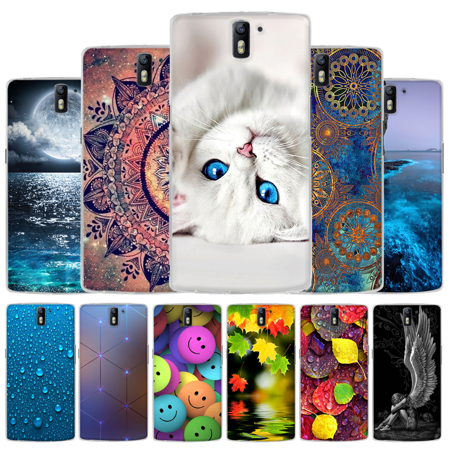 for Oneplus One Case Cover Soft Silicon Coque Fundas For Oneplus One A0001 Phone Bags Cute pattern Back Cases Skin for oneplus 1
