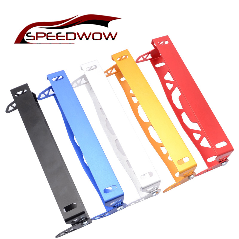 SPEEDWOW Auto License Plate Frame Aluminum Rotating Number Plate  Adjustable License Plate Frame Tag Holder For BMW VW FORD