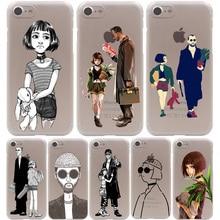 Leon Matilda Natalie Portman Hard Transparent Case for iPhone 7 7 Plus 6 6S Plus 5 5S SE 5C 4 4S
