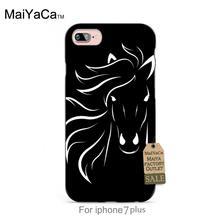 Running black horse black tpu case for iphone 4s 5s 5c 6 6Plus 7 Plus case