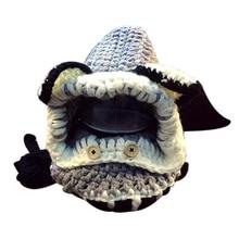 Winter Beanie Baby Sweater Fox Kids Girls Boys Wool Warm Scarf Hood holds Hats – Grey