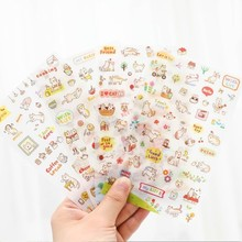 11 Different Style Cute Stickers Kawaii Stickers Scrapbooking Animals Sticker Planners Deco Pvc Diary Sticker for School Supply