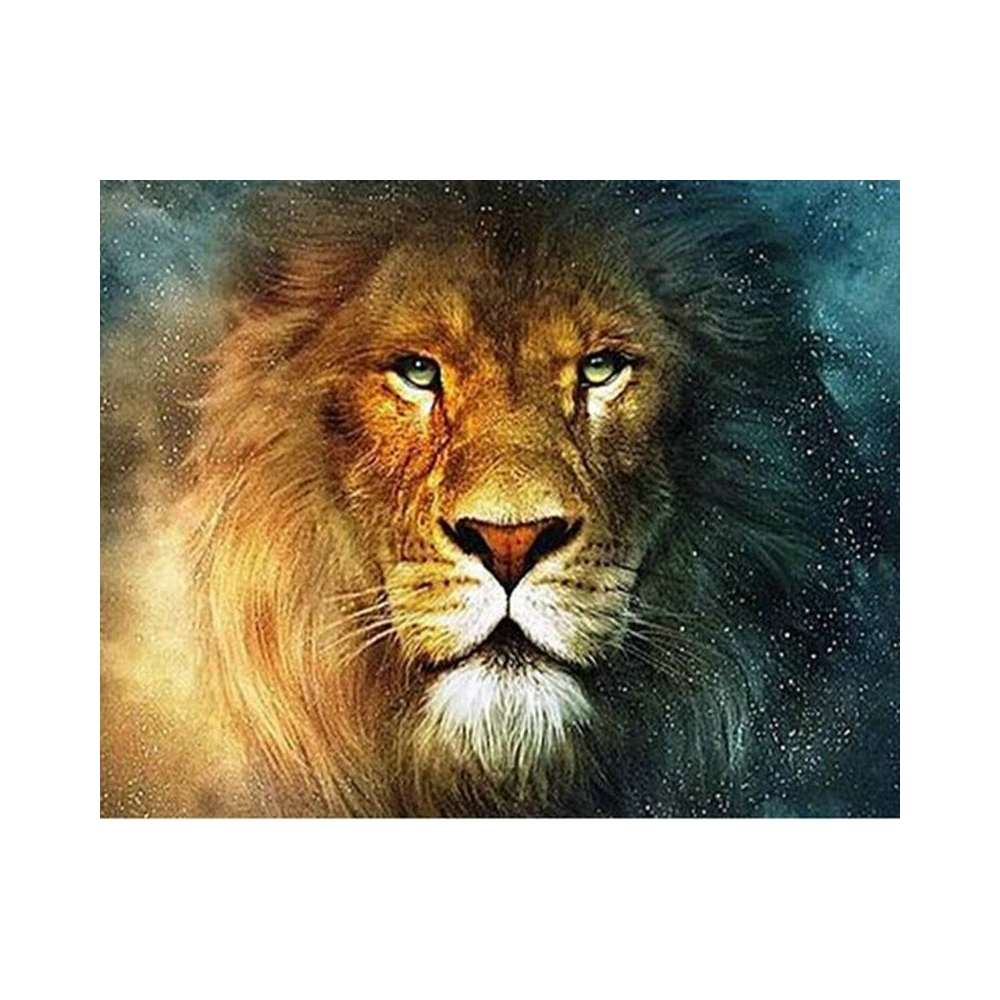 5D DIY Diamond Embroidery animal Lion pattern Diamond Painting Cross Stitch Suite Full square, round Mosaic Decoration BV663