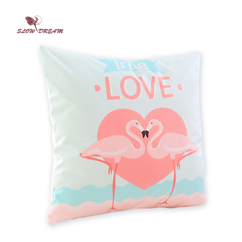 Cuscini Per Decorare Il Letto.Btwnablinkandatear Offerte Slowdream Nordic Rosa Amore Flamingo