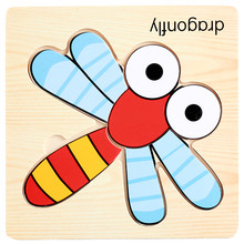 High quality Wooden Lovely Puzzle Educational Developmental Baby Kids Training toys for children Gift 5 15