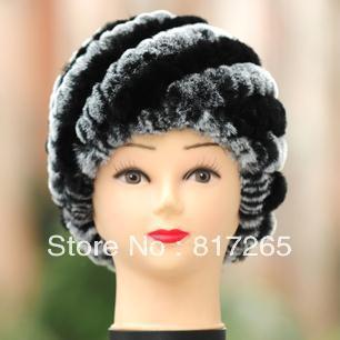 Бесплатная доставка Кролик волосы шляпа леди зима расстроен теплую шапку модной женщины хет мех R51 Натурального меха hat