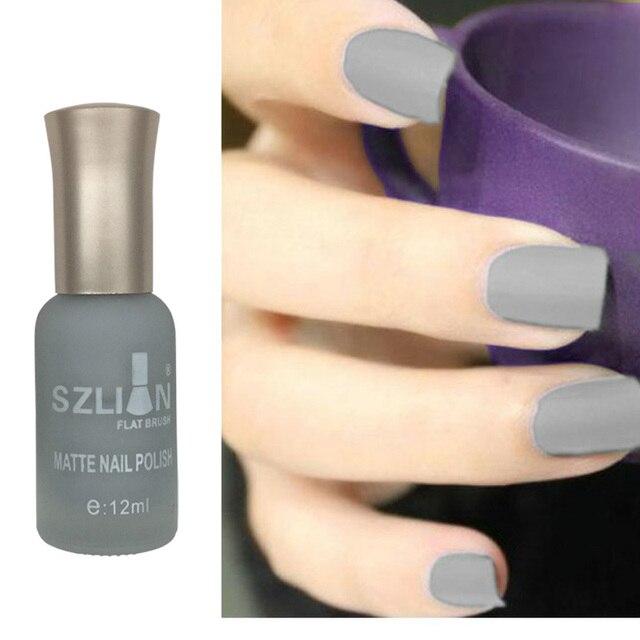 42 colors optional matte nail polish 12ml nail varnish frosted bottle long lasting nail polish DIY nail art tool