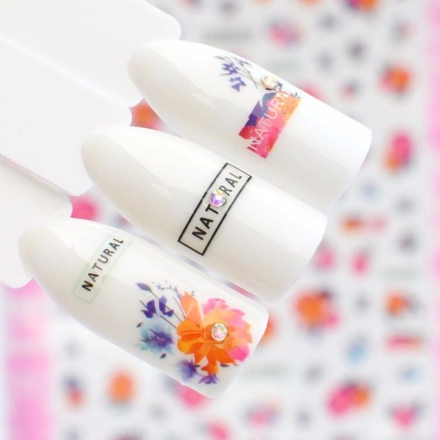Aliexpress Com Buy Ywk 3d Nail Stickers Decal Small Fresh Flower