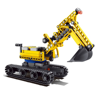 Mechanical Car Early Education Assembling Military Engineering Gear Toy Car Building Blocks Compatible with Legoing Bricks