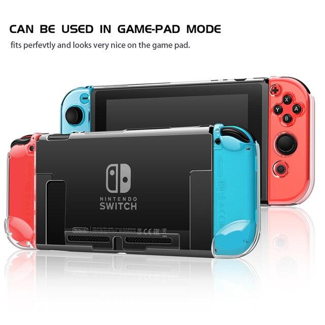 Nintend Switch Slim Back Hard Crystal Split Protective Cover Case Shell Skin, Fit for Nintendo Original Dock Station
