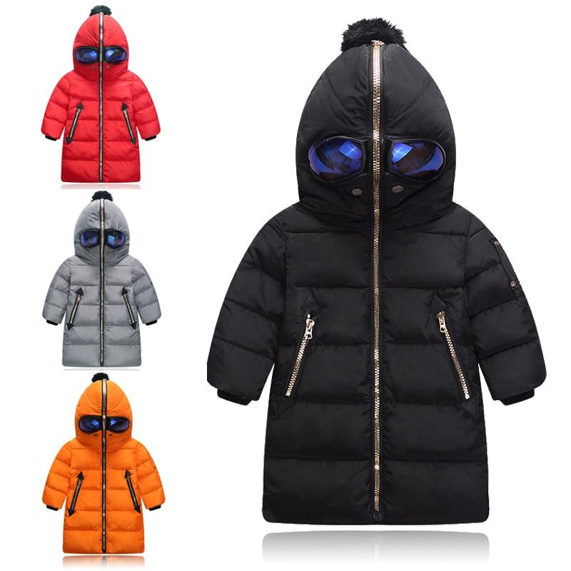 Sıcak Kış Çocuk Aşağı & Parkas Uzun Çocuklar Aşağı Ceket için 24 Ay to7T