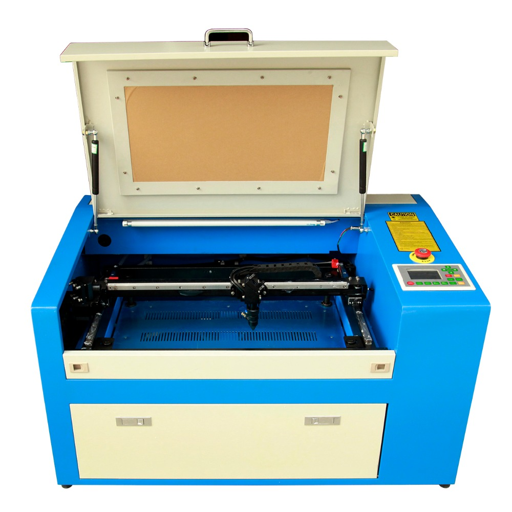 (Ship from UK) 350B 50W CO2 Laser Cutter Engraving Machine Auxiliary Rotary Device 0 60000mm