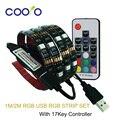 USB Kit de Iluminação de Tira CONDUZIDA 5050 RGB TV Fundo Cuttable com 17Key Controlador RF 1 M/2 M Conjunto, impermeável ou Não à prova d' água