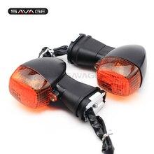 For KAWASAKI ZR-7 ZR-X 400/1100/1200  ZX-R 250/400R/750  Clear Motorcycle Front Turn Signal Indicator Lights Blinker цена в Москве и Питере