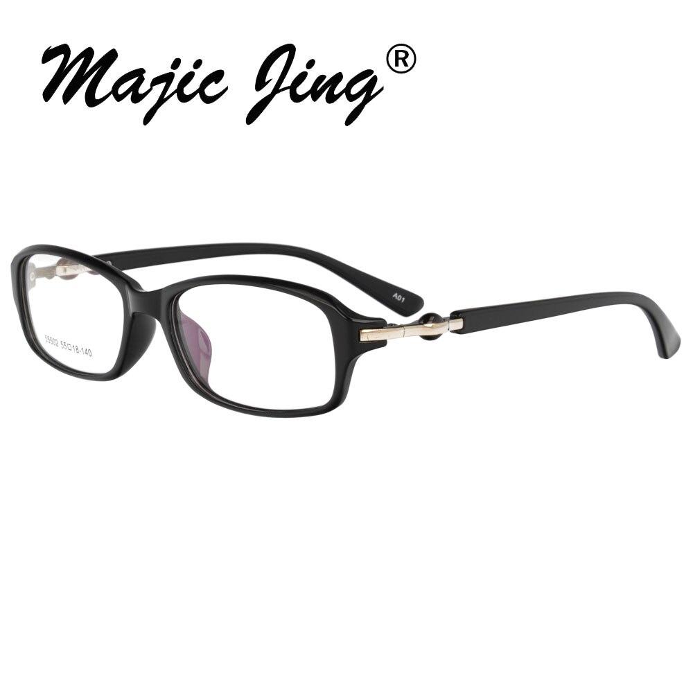 TR90 оптический Стекло es рамка Для мужчин Для женщин полный обод близорукость глаз, стекло рецепта Стекло es очки 55502 - Цвет оправы: A01