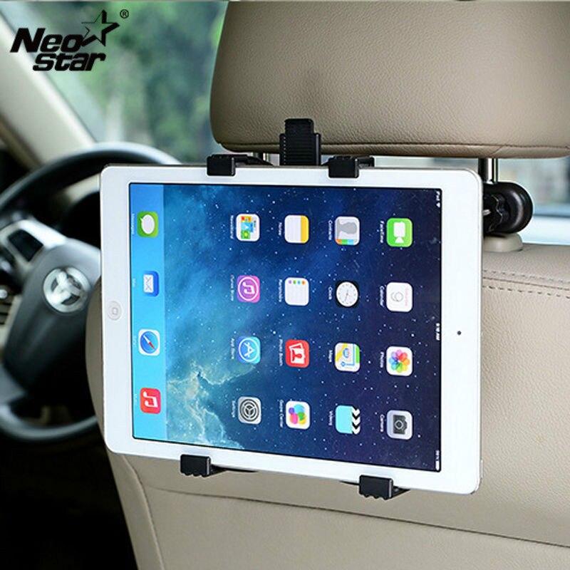 Auto Sedile Posteriore Supporti tablet Poggiatesta Supporto Del Supporto per ipad 2 3 4 Aria 5 Aria 6 ipad mini 1 2 3 Tablet SAMSUNG PC espositori e Alzate Universale